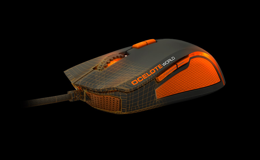 Ozone Argon Ocelote Mouse Lateral side