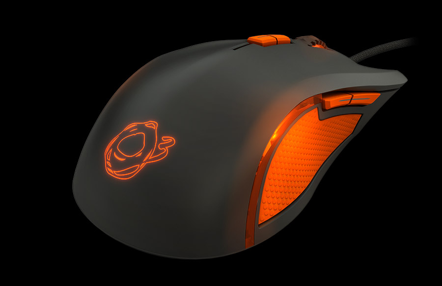 Ozone Argon Ocelote Mouse Front side 3