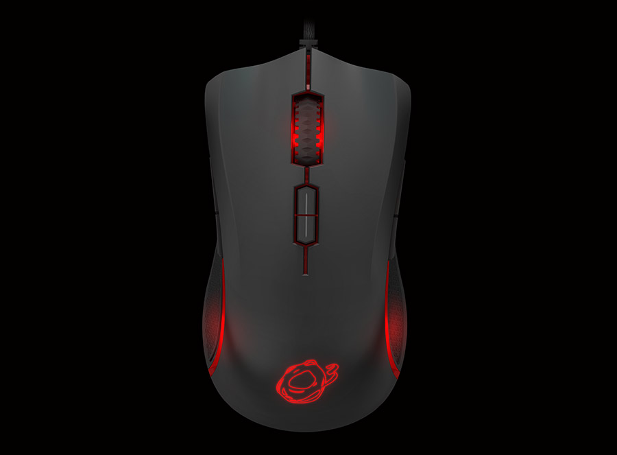Ozone Argon Gaming Mouse front side 2