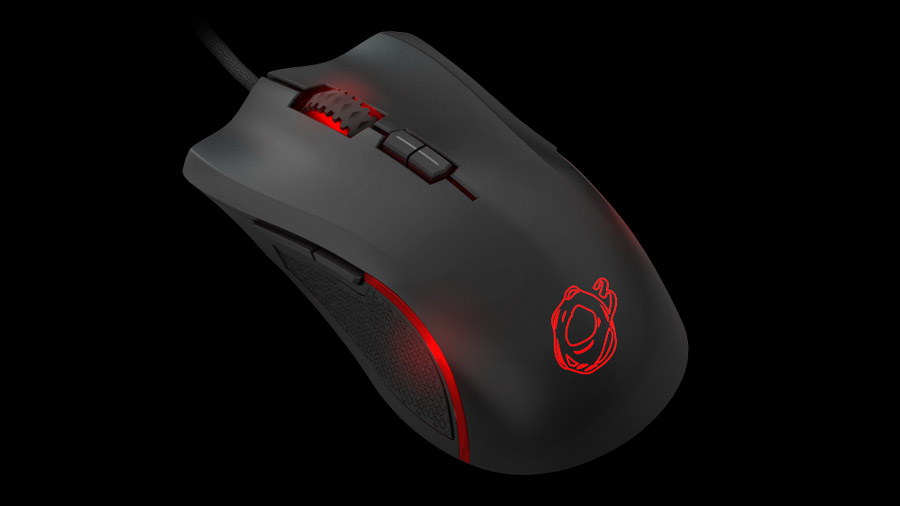 Ozone Argon Gaming Mouse front side 4