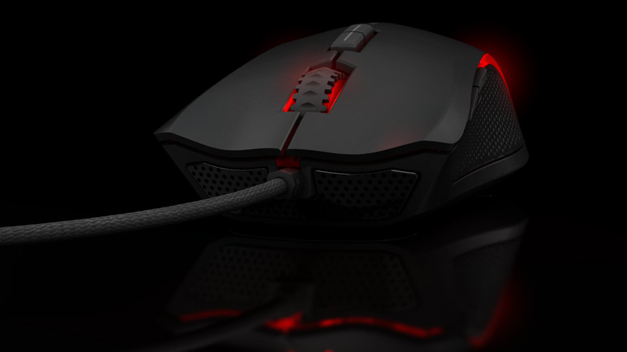 Ozone Argon Gaming Mouse front side 5